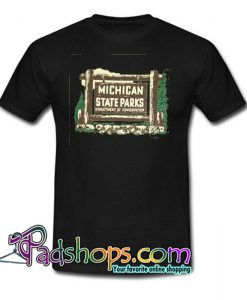 1961 Michigan State Parks Vehicle Permit T Shirt SL