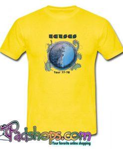 1970's KANSAS vintage concert 1977-78 TOUR vintage band  T shirt SL