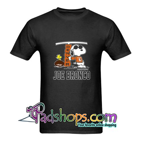 1980s joe bronco x snoopy t shirt
