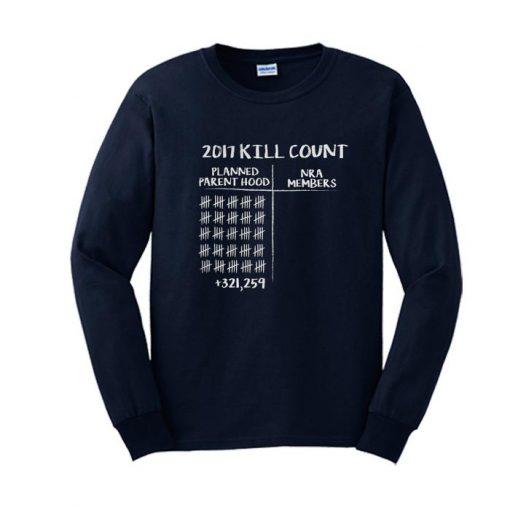 2017 Kill Count Sweatshirt SL