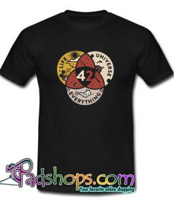 42 the answer to life universe and everything  T Shirt SL