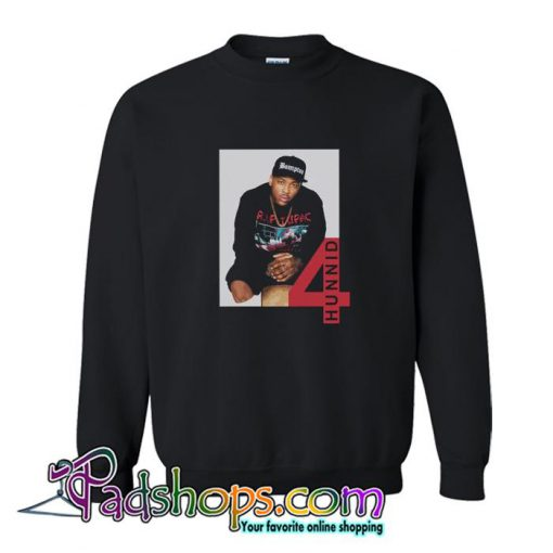 4Hunnid R I P Tupac Sweatshirt SL