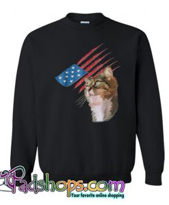 4th Of July Patriotic American Cat Sweatshirt SL