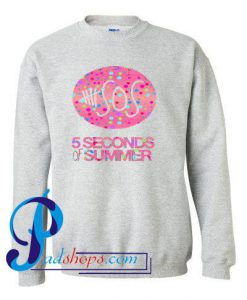 5Seconds Of Summer Logo Pink Bubbles Sweatshirt