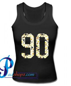 90 Daisy Flower Tank Top