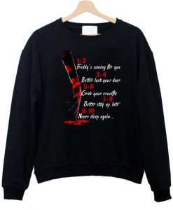 A Nightmare On Elm Street Hand 1 2 Freddy's Coming For You  Hoodie