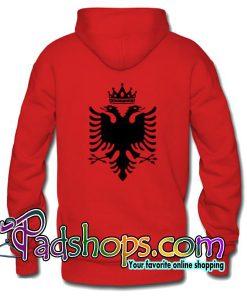 Albanian Flag Hoodie Back