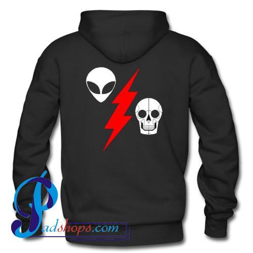 Alien Flash Skeleton Hoodie Back