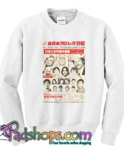 All Japan Pro Wrestling News Flash Sweatshirt SL
