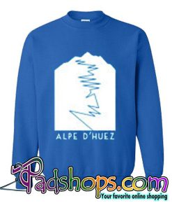 Alpe D'Huez Mens Unisex Cotton T-Shirt Retro Tour de France King of the Mountains Road Cycling Clothing sweatshirt