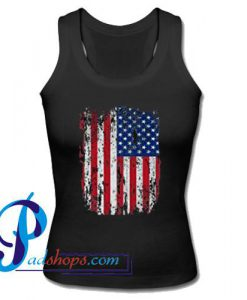 American Flag Vintage USA Tank Top