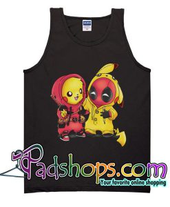 Baby Pikachu Pokemon and Deadpool Tank Top Unisex Adult