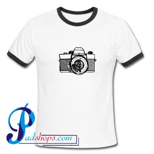 Camera Vintage Ringer Shirt