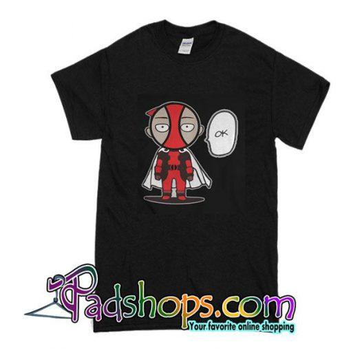 Deadpool And Combine Saitama Ok T-Shirt