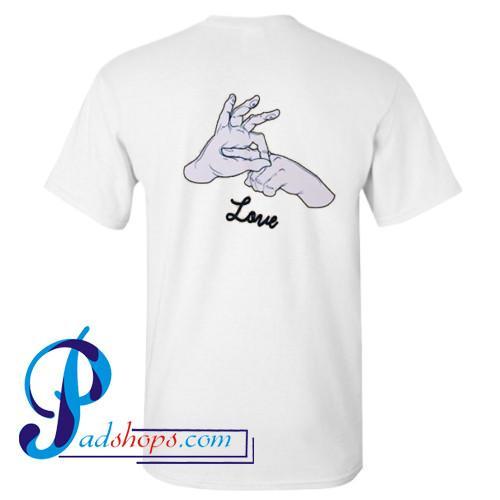 Finger Love T Shirt Back