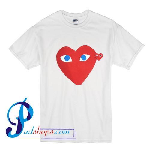 Garcon Red Heart Blue Eyes T Shirt