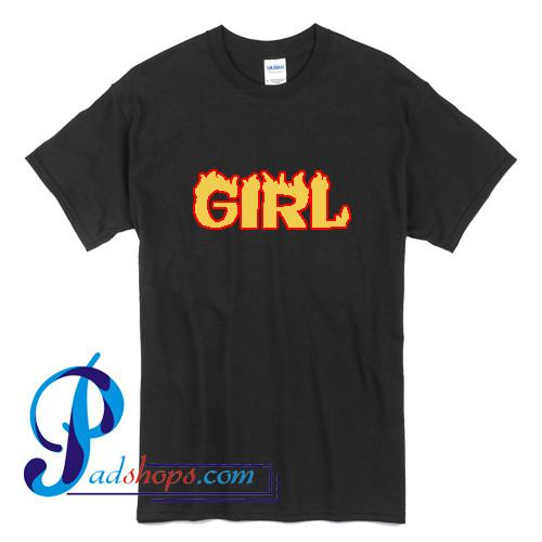 Girl Graphic Flame T Shirt