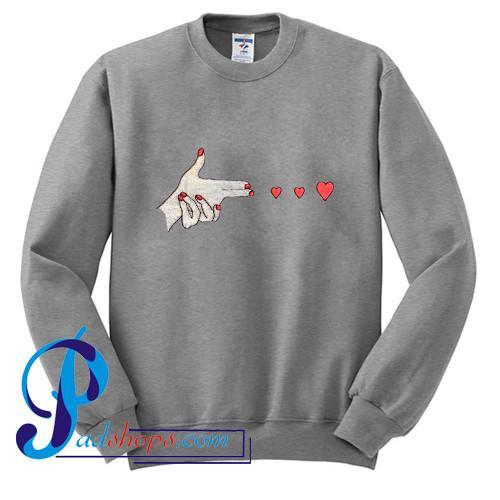 Hand Shooting Heart Sweatshirt
