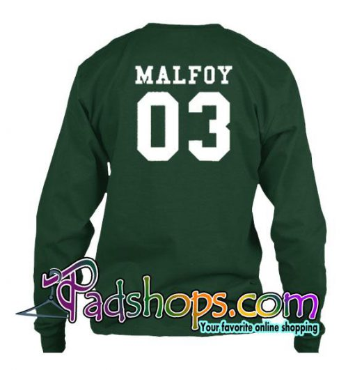 Malfoy Sweatshirt Back