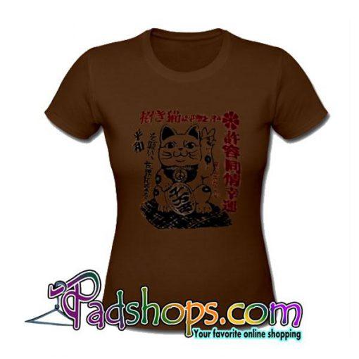 Maneki Neko Peace T-Shirt