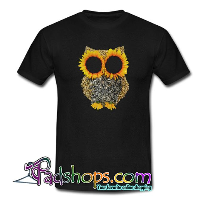 Owl by sunflower and seed T Shirt SL