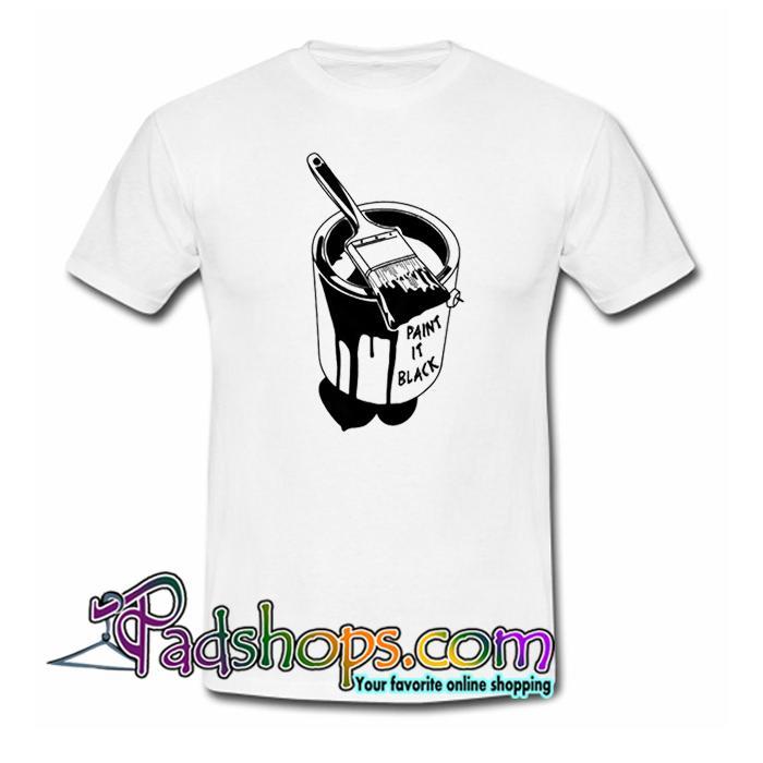 Paint It Black T Shirt SL
