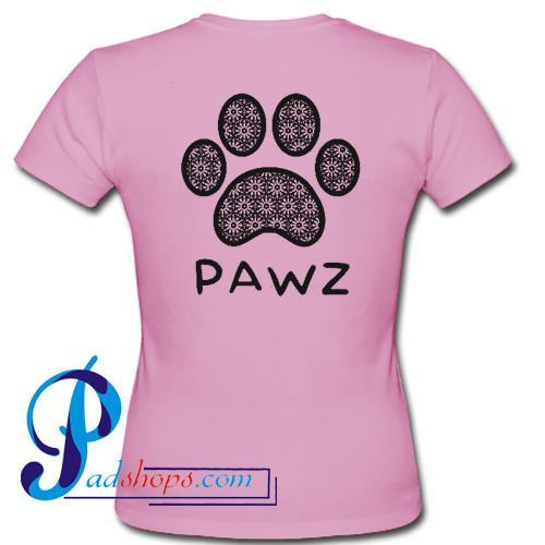 Pawz T Shirt Back
