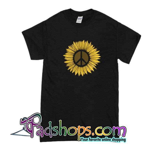 Peace Hippie Inside Sunflower T-Shirt