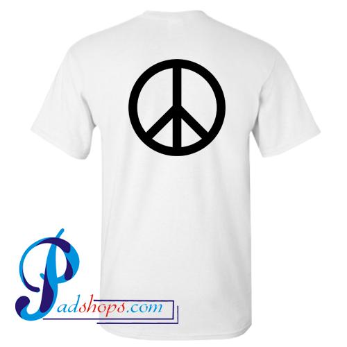 Peace Logo T Shirt Back