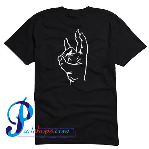 Pinch Hand Symbol T Shirt Back