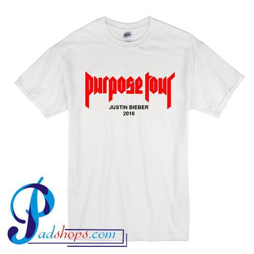 Purpose Tour Justin Bieber 2016 T Shirt