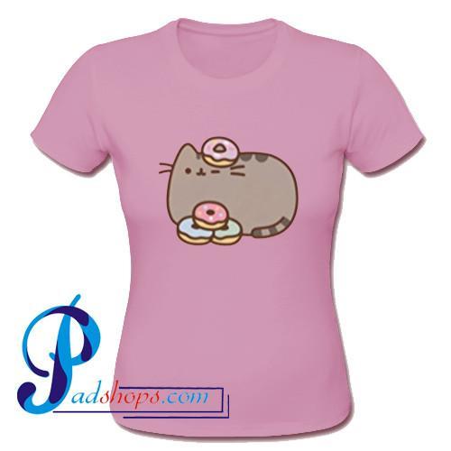 Pusheen The Cat Donuts T Shirt