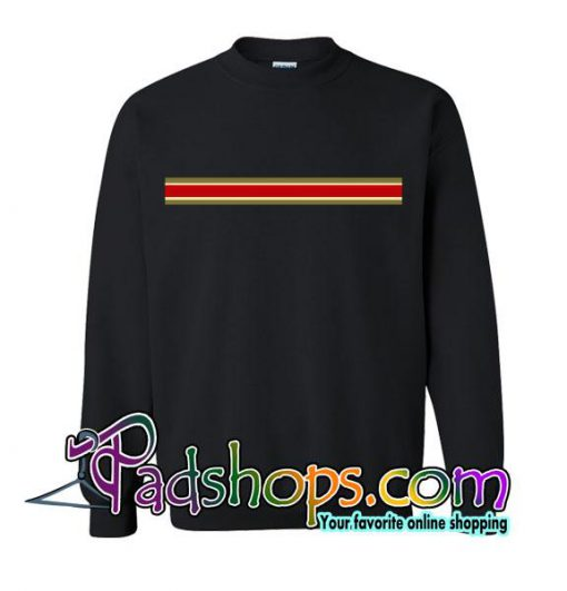 Red Centre Stripe Sweatshirt