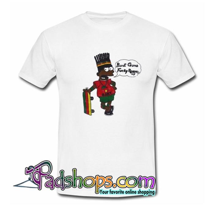 Reggae Bart Simpson  T Shirt SL