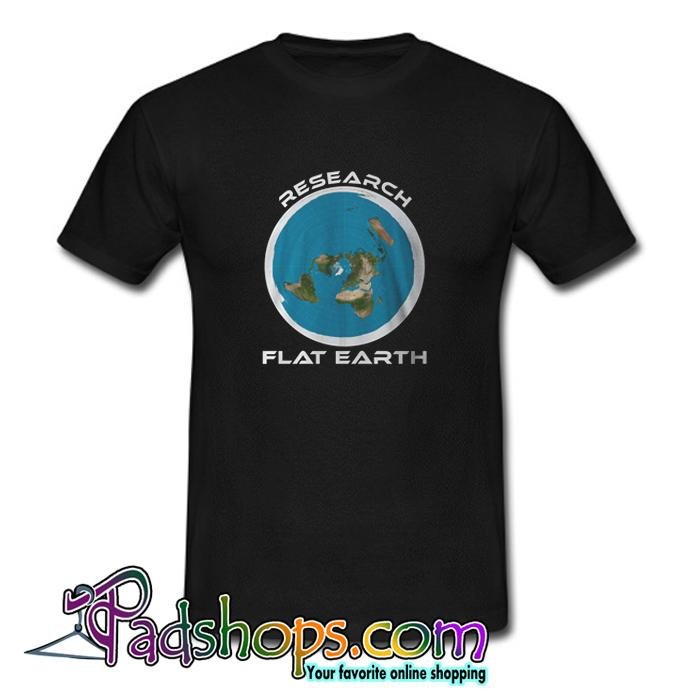 Research Flat Earth T Shirt (PSM)