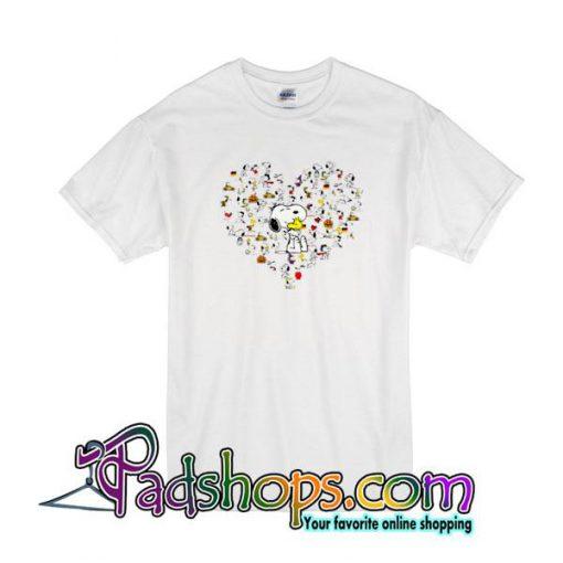 Snoopy Heart T-Shirt