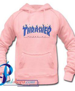 Thrasher Flame Logo Blue Hoodie