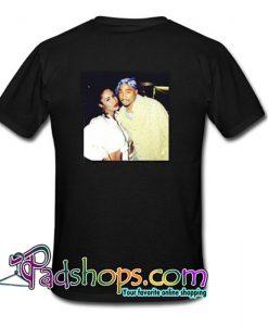 Tupac and selena quintanilla T shirt Back SL