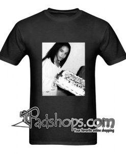 aaliyah t shirt  black
