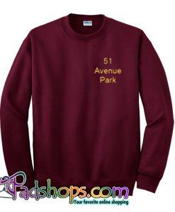 51 Avenue Park Maaroon Sweatshirt-SL