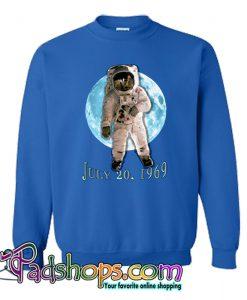 APOLLO 11 Astronaut Moon Landing Blue Moon Sweatshirt-SL