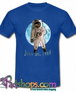 APOLLO 11 Astronaut Moon Landing Blue Moon T shirt-SL