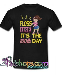 100 Days Of School Girl Floss Dance Trending T shirt NT