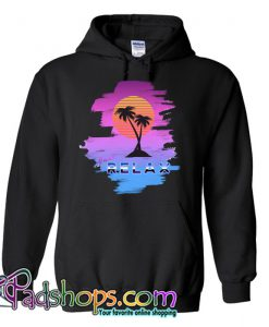 1980s Sunset Palm tree Hoodie NT