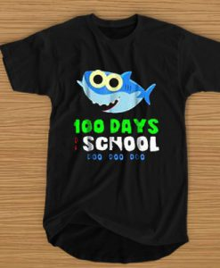 100 DAYS OF SCHOOL BABY SHARK DOO DOO DOO T-SHIRT