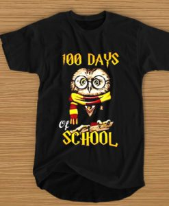 100 DAYS OWL OF SCHOOL GRYFFINDOR MAGIC WIZARD T-SHIRT