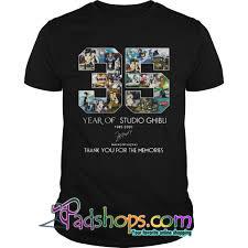 35 year of studio ghibli 1985-2020 Hayao Miyazaki thank you for the memories tshirt