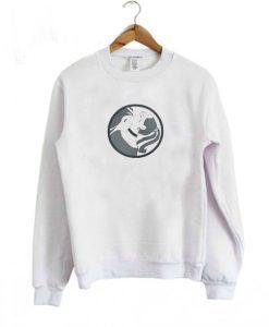 Flow White Illustrated Sweatshirt