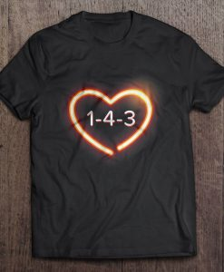 143 I Love You t shirt Ad