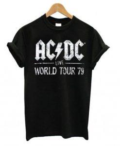ACDC Live World Tour 79 T shirt Ad